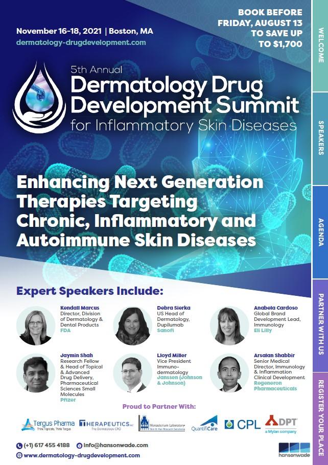 5th Annual Dermatology Drug Development Summit Brochure Cover